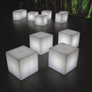 LED Lounge Hocker - leuchtend , LED Cube, LED Hocker