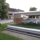 Mobiler Trailer Lounge, American Diner Bar, Roadshow, B�hne, TV Studio, messebau, Halle, Showb�hne, Biergarten